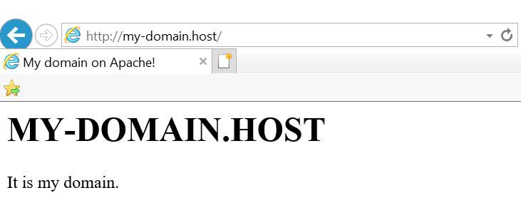 Виртуальный хост Apache в браузере
