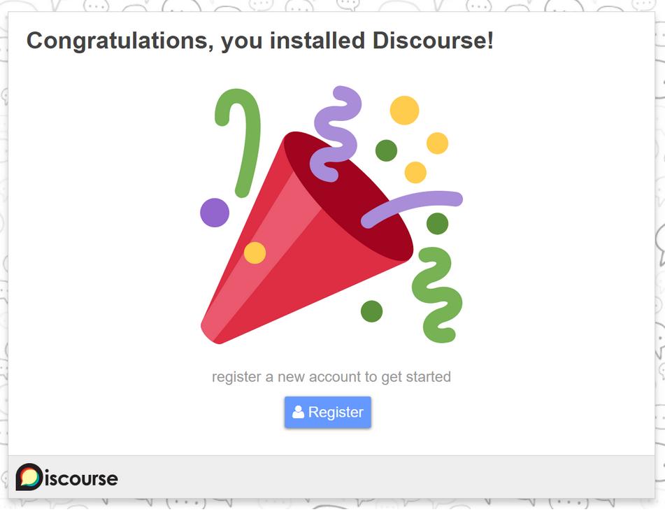 Успешная установка Discourse на Ubuntu 20.04