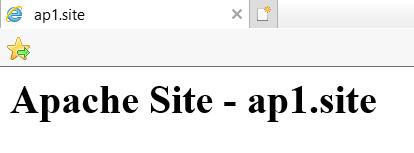 Первый сайт на Apache