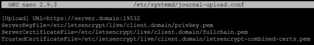 /etc/systemd/journal-upload.conf - Как централизовать логи с помощью Journald в Ubuntu 20.04