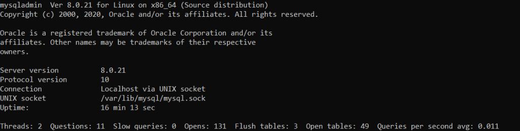 Версия MySQL - Как установить LAMP на CentOS Stream