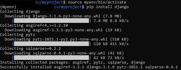 Установка веб-фреймворк Django на Ubuntu 20.04 через pip