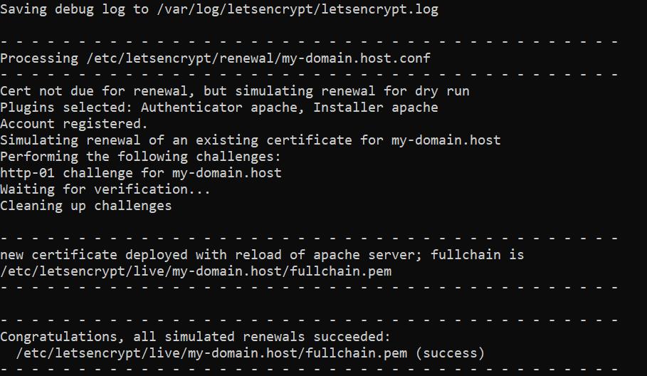 Проверка обновления сертификата