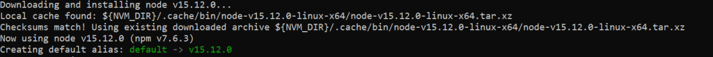 Установка node.js