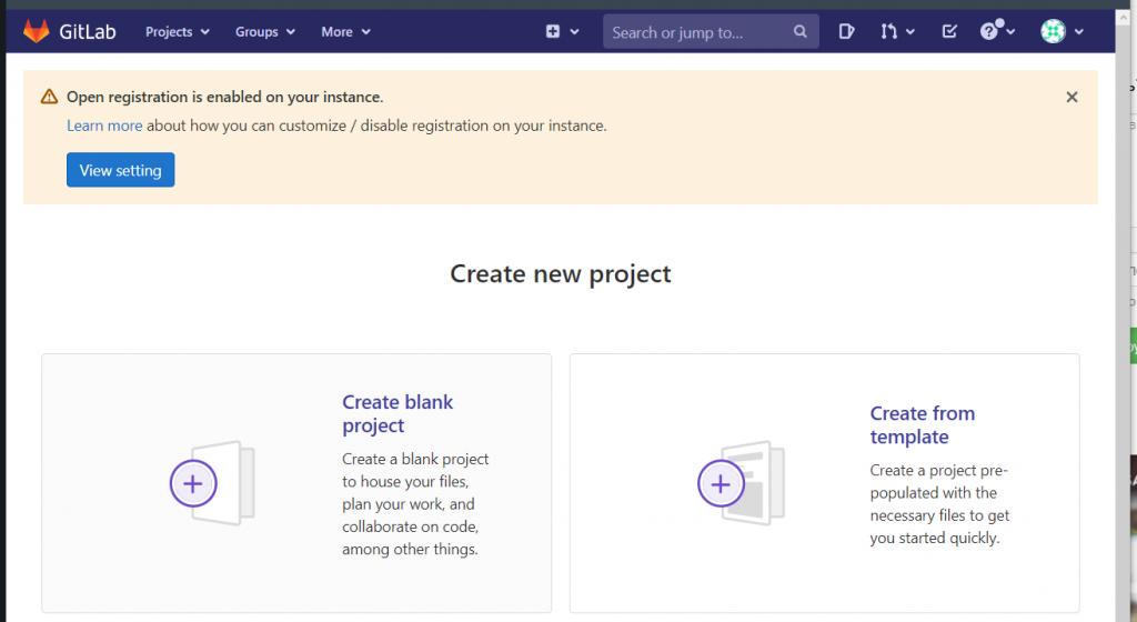 Создание проекта на GitLab