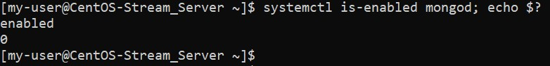 Проверка автозапуска MongoDB