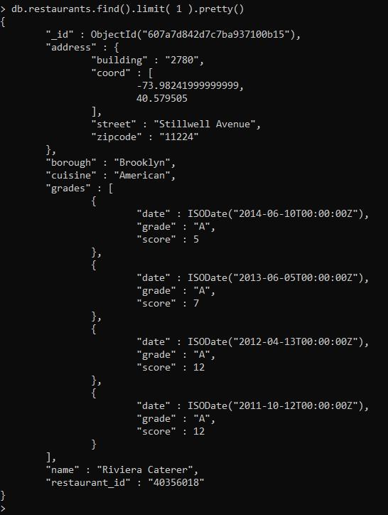 Запрос к коллекции данных - Как установить MongoDB на CentOS Stream