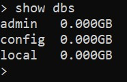 Список баз данных MongoDB - настройка безопасности MongoDB в Ubuntu 20.04
