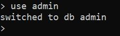 Подключение к базе данных admin