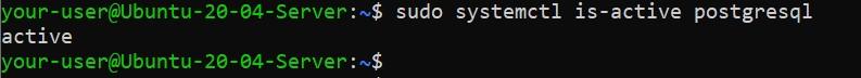 Проверка активности PostgreSQL - как установить PostgreSQL и pgAdmin4 в Ubuntu 20.04