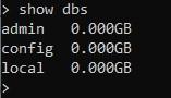 Список баз данных MongoDB