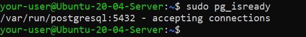 Проверка готовности PostgreSQL - как установить PostgreSQL и pgAdmin4 в Ubuntu 20.04