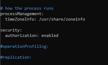Конфигурационный файл MongoDB