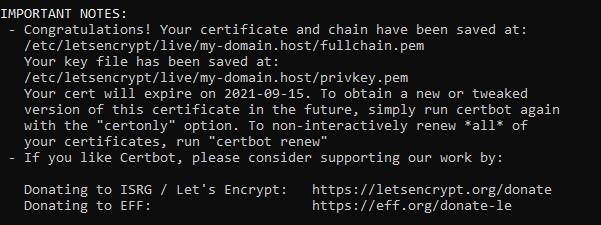 Активация SSL-сертификата
