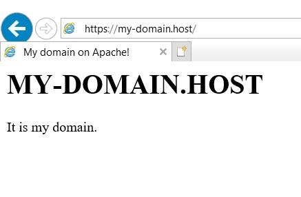 Подключение к домену по HTTPS