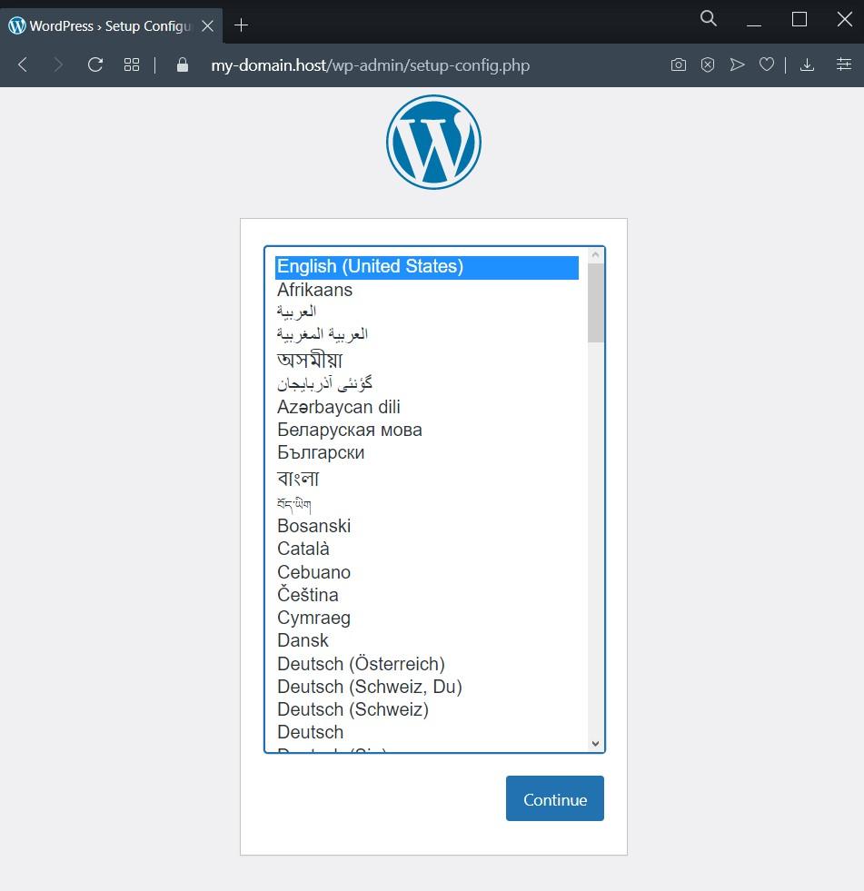 Выбор языка- Использование WP-CLI v2 для управления WordPress из консоли