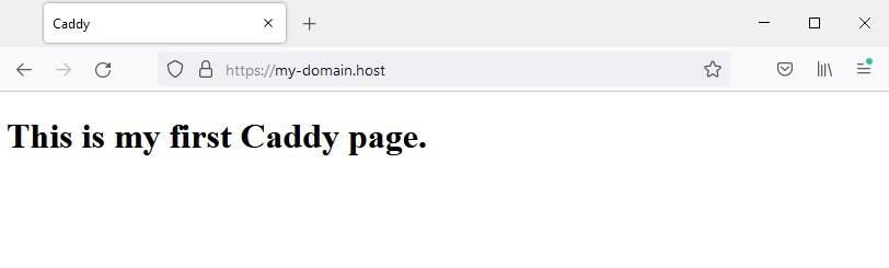Сайт в браузере - Хостинг своего сайта при помощи Caddy в Ubuntu 20.04